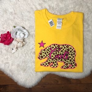 CALI Cheetah Print Crop Top Over Sized Tee